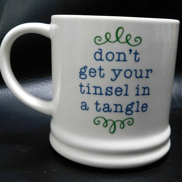 Threshold Porcelain Tinsel Tangle Holiday Mug